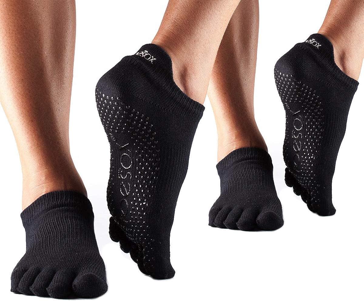 Healthy 1Pair Yoga Pilates Sports Socks Half Toe Ankle Grip Five Finger Tm