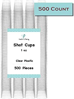 Craft and Party 1oz Premium Shot Glasses in 500 ct, BEST VALUE PACK. (500)