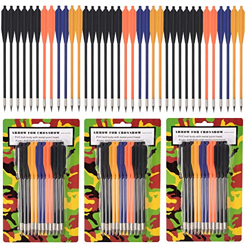 ONE250 Arrows Bolts for Pistol Crossbow 50-80 Lb Pounds - 36 Pack (Plastic)