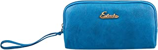 ESBEDA M-Blue Color Solid Pu Synthetic Material Pouch For Womens