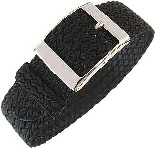 Palma 22mm Black Perlon Watch Strap