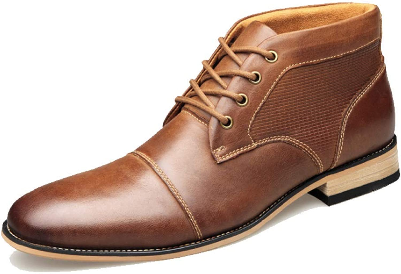 JCZR Mann's läder skor Springaa Martin stövlar stor stor stor Storlek 45 46 49 läder stövlar  fabriksförsäljningar