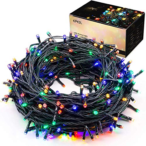 Indoor/Outdoor Christmas String Lights - 12m/39ft 120 LEDs 8 Modes Memory Function End-to-End Extendable Plug in Waterproof Fairy Lights for Thanksgiving Day/Halloween/Wedding/Patio/Home - Colorful
