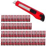 Deuba 100 x Teppichmesser Rasterautomatik Abbrechklinge 9mm Klingenbreite Cuttermesser Paketmesser Sicherheitsmesser