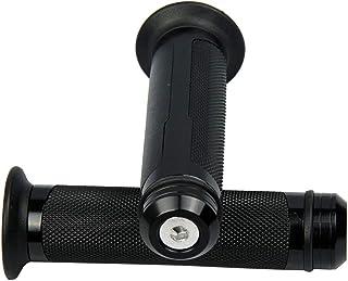 "MotorToGo Black Aluminum 7/8"" handlebar gel grips with caps for 2011 Triumph Tiger 1050 ABS"