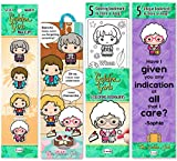 Re-marks Golden Girls Book Lovers Gift Set of 15 Bookmarks - Includes 4 Magnetic Page Clips, 5 Coloring Bookmarks, 1 Tassel Bookmark, and Multipack of 5 Quote Bookmarks