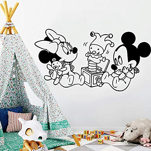 Tianpengyuanshuai Lustige Maus Wandaufkleber personalisierte kreative Wohnzimmer Schule Dekoration Tapete 50X60cm