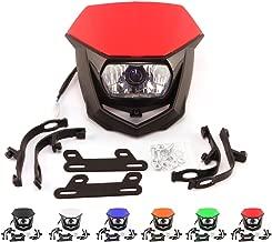 Universal Motorcycle Headlight Head Lamp Light Kit H4 12V 35W For HONDA YAMAHA KAWASAKI SUZUKI CR CRF XR YZ YZF WR KX KXF KLX RM RMZ 125 250 450 ATV Pit Dirt Bike Red