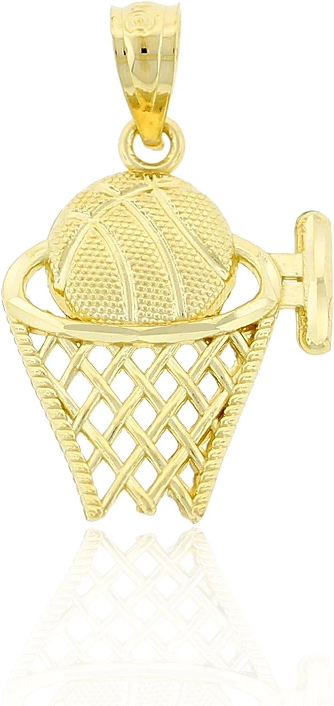 Charm America Indefinitely - Gold Basketball Solid 10 latest Karat Hoop