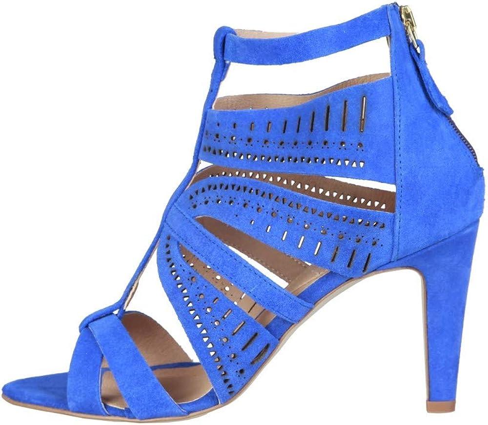 Pierre cardin axelle,scarpe, sandali per donna,in vera pelle scamosciata AXELLE_BLUETTE-Blue-EU 37