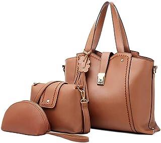 Fashion 3 Piece Set Handbag Versatile Multi Piece Set (Color : E)