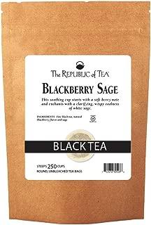 The Republic of Tea Blackberry Sage Black Tea, 250 Tea Bags, Gourmet Black Tea, Blackberry And Sage Blend