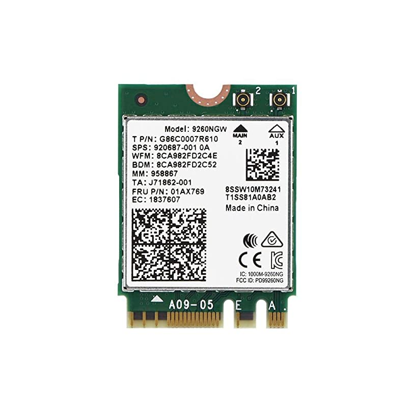 平手打ち四半期無許可Mugast ミニWIFIカード 1.73Gbps 無線技術 2.4 GHz + 5 GHzデュアルバンド 耐干渉性 NGFF M.2ワイヤレスモジュール