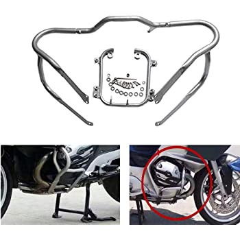 Black Engine Guard Front Lower Crash Bar Protector fit for BMW R1200RT 2005-2013