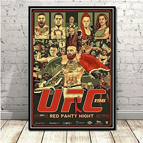 wqmdeshop Carteles E Impresiones Conor Mcgregor UFC Guantes De Boxeo Deportivos Super Star Pinturas De Lienzo Modernas Cuadros De Pared Sala De Estar Decoración del Hogar 40X50Cm