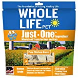 Whole Life Pet Healthy Dog and Cat Treats Value Pack, Human-Grade Whole Chicken Breast, Protein Rich for Training, Picky Eaters, Digestion, Weight Control, Made in the USA, 21 Ounce