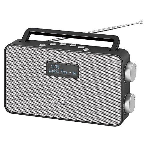 AEG DAB 4153 Stereoradio mit DAB+, PLL-RDS-UKW, AUX-IN, 40 Senderspeicher, Netz/Batteriebetrieb schwarz
