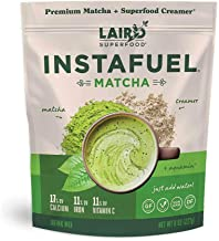 Laird Superfood Instafuel Matcha Plus Creamer - Matcha Latte Green Tea Powder Packed with Antioxidants, 8oz Bag