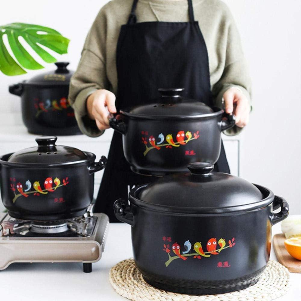 LIUSHI Pots en Terre Cuite Casserole Casserole Casserole Pot-Upgrade Nutrition, santé et économie d'énergie-2.8L 5.5l