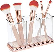 mDesign Práctico Organizador de Maquillaje – Decorativa Caja para Guardar cosméticos como esmaltes de uñas o polveras – Ex...