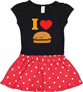 inktastic I Love Cheeseburgers Toddler Dress