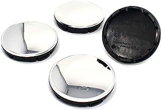 Finest Folia 4X Nabendeckel 56mm 60mm Durchmesser ABS Kunststoff Aluminium Nabenkappen für Felgen Radnaben Felgendeckel Felgenkappen Universal Auto Zubehör (Chrom, 56mm Ø)