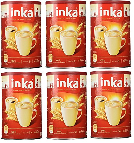 GroßhandelPL Polnisches Weizengetränk Inka Grana Heißgetränke 6er Pack (6x200g) Dose