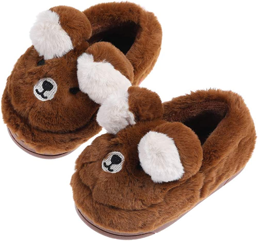 XYLUIGI Boys Ranking TOP14 Girls Cute Animal Slippers Warm To Anti Factory outlet Winter Skid