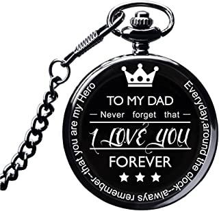 LibbyPet Pocket Watch to My Dad Gifts from Daughter to Dad for Father's Day/Birthday - Everyday Carry Present for Him