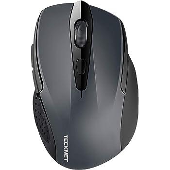TECKNET Bluetooth Maus, Kompakte Wireless Kabellose Bluetooth Mouse, 5 verstellbare DPI Level, bis zu 2600 DPI, 24 Monate Batterielaufzeit