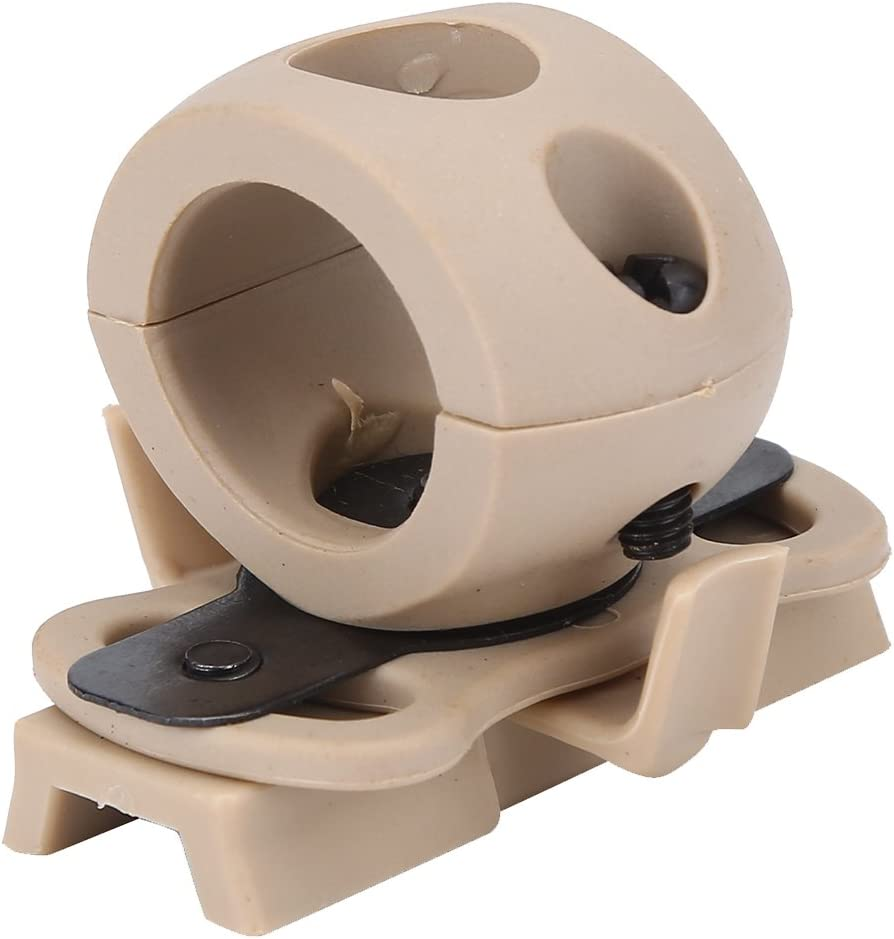 Yosoo Health Gear Soporte para Flash de Casco Soporte para Linterna de Casco Pl/ástico port/átil 21mm//0.82inch Soporte para Linterna Soporte para Linterna Soporte de Montaje de Linterna