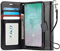 J&D Case Compatible for Motorola Moto G Fast Case, Wallet Stand Slim Fit Heavy Duty Protective Shock Resistant Flip Cover ...