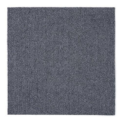 Achim Home Furnishings NXCRPTSM12 Nexus 12 inch x 12 inch Self Adhesive Carpet Floor Tile, 12 Tiles/12 Sq', Smoke, Count