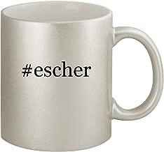 #escher - Ceramic Hashtag 11oz Silver Coffee Mug, Silver