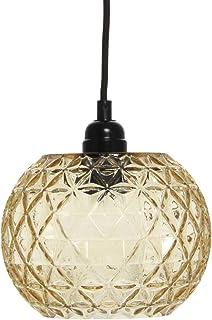 Lampe rétro en verre - Forme ronde et ovale - Jaune et orange