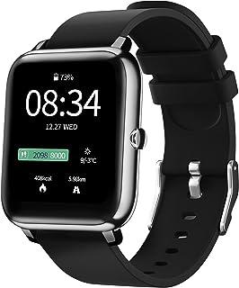 "IDEALROYAL Smartwatch, Fitness Tracker met Hartslagmeter, Stappencalorieteller, Slaapmonitor Smart Watch, 1.4 "" Waterdicht..."