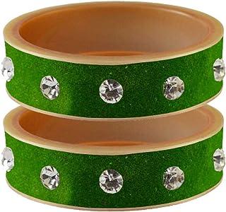 Vidhya Kangan Bangle Set for Women (H Green) (bans13616-3.2)