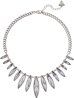 Graduated Marquis Stone Front Necklace