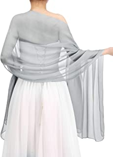 Bbonlinedress Women's Soft Chiffon Shawls for Evening Dresses Fashion Scarves Wraps for Bridal Wedding Party