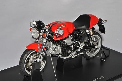 AUTOart Ducati Sport 1000 Rot 2006 12551 1 12 Modell Motorrad mit individiuellem Wunschkennzeichen