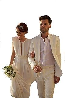 c8102a307c5 Groom Tuxedos Peak Lapel Men s Suit Navy Blue Groomsman Best Man Wedding Prom  Suits