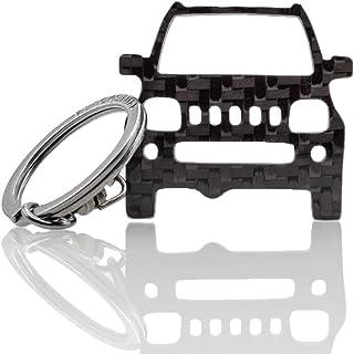 BlackStuff Carbon Karbonfaser Schlüsselanhänger Kompatibel mit Jimny 1998 2012 BS 949