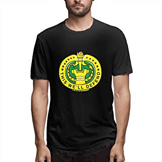 Army Drill Sergeant Mens Classic Crew Neck T Shirt Stylish Cotton Short Sleeves Top Black