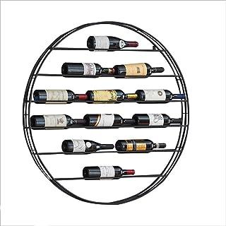 MIEMIE Flottant Étagères Décoratif Rond en Métal Solide Style Moderne Casier À Vin Bar Présentoir De Stockage Organisateur...