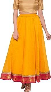 Globus Yellow Solid Skirt