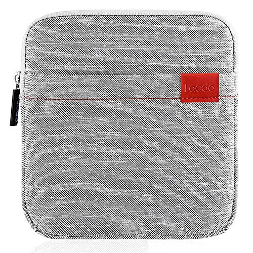 Lacdo Shockproof External CD DVD Hard Drive Sleeve Bag Pouch for Burner Player Writer Blu-Ray Apple USB SuperDrive, VersionTech/Asus/Dell/LG/HP Neoprene Portable Protective Storage Carrying Case, Gray