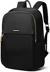 Kamlui Laptop Backpack 15.6 Inch Stylish Backpack for Women Work Travel Leisure Business College Computer Backpack School iPod Book Bag Purse, Black