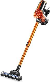 iwoly 掃除機 V600 サイクロン 600W ハイパワー 超強力吸引 コード式 スティッククリーナー HEPAフィルター コード付き コンパクト 静音 超軽量 2way オレンジ