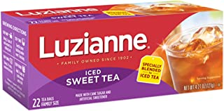 Luzianne Family Size Sweet Iced Tea 22 Count Box,Pack of 6