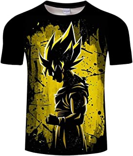 ZeroGoo Goku Vegeta DBZ Dragon Ball Super Saiyan Shirt for Men Kid Adult Teen,Last Anime 3D Print Short Sleeve T Shirt